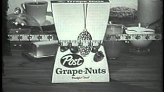 1960s Post Grape Nuts - Healthy - Fills you up but not out Retro-Classic Commercial