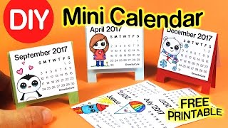 DIY How to Make Mini Calendar step by step EASY 2017 - Fun Craft