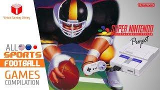 All SNES/Super Nintendo Football Games Compilation - Every Game (US/EU/JP)