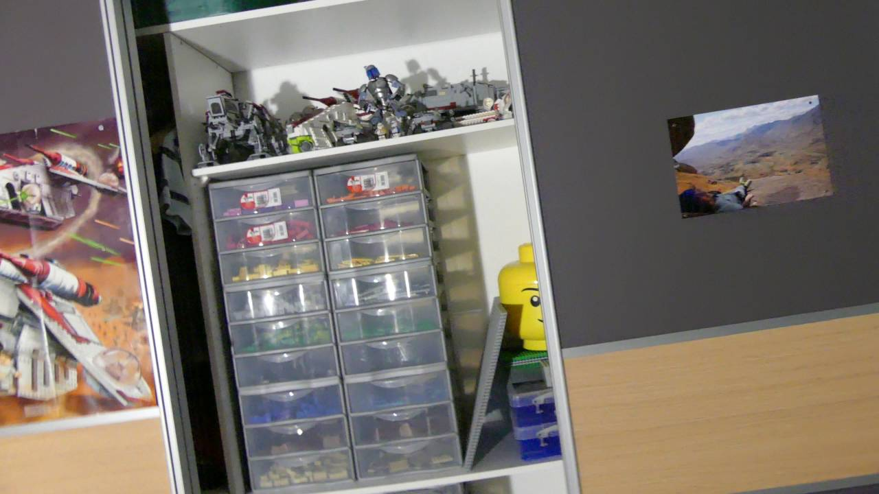 comment ranger ses lego pr sentation de mon rangement a lego youtube. Black Bedroom Furniture Sets. Home Design Ideas