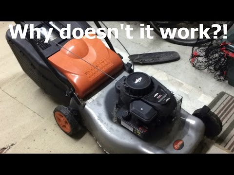 Briggs and Stratton Flymo Petrol Lawnmower Repair - Part 1