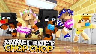Minecraft HIDE N SEEK CHOP CHOP - LITTLE CLUB BABY CHOP CHOP w/LITTLE CARLY - donut the dog