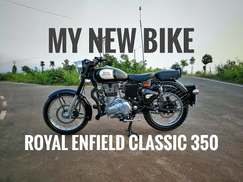 My New Royal Enfield Classic 350 Black (Dual Disc) Delivary