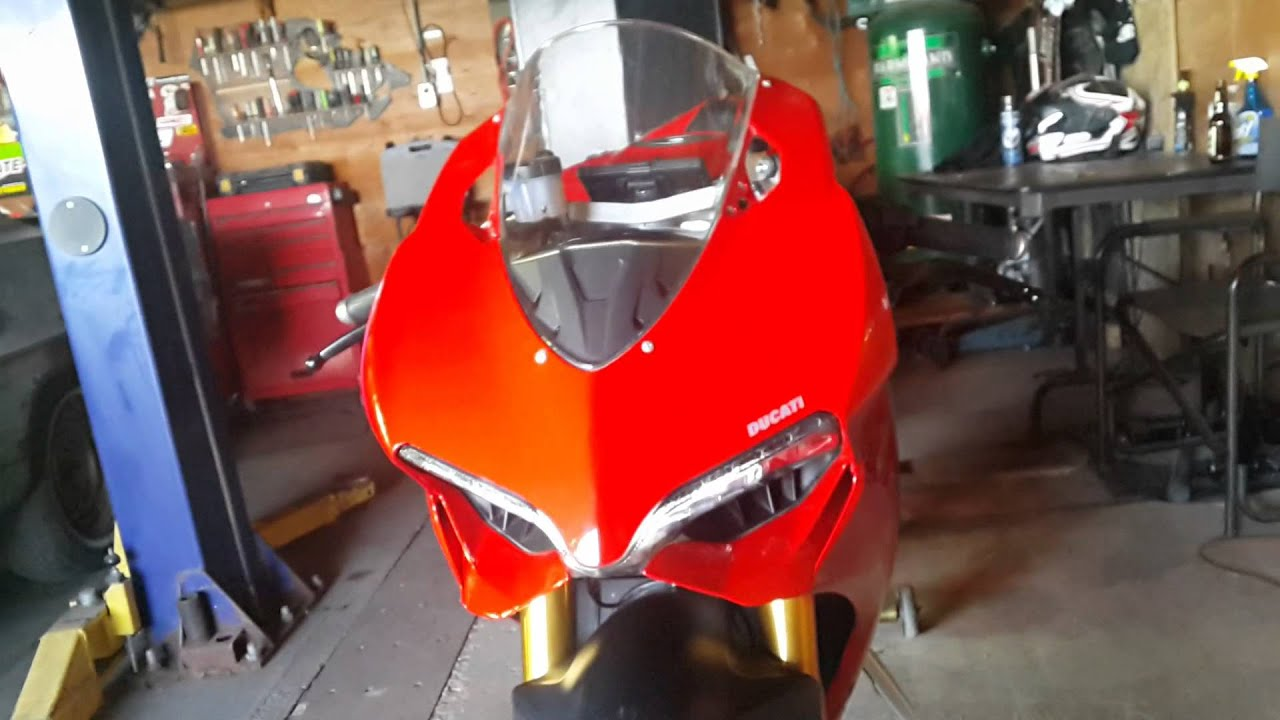 ducati 1199 led signals in headlights mod. - youtube