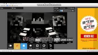 minecraft youtube kapak fotoğrafı yapımı
