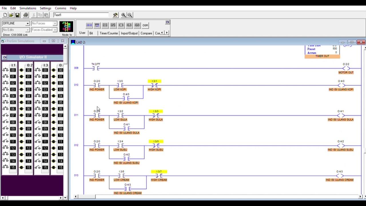 Ladder Diagram Coffee Vending Machine Using Logixpro Youtube