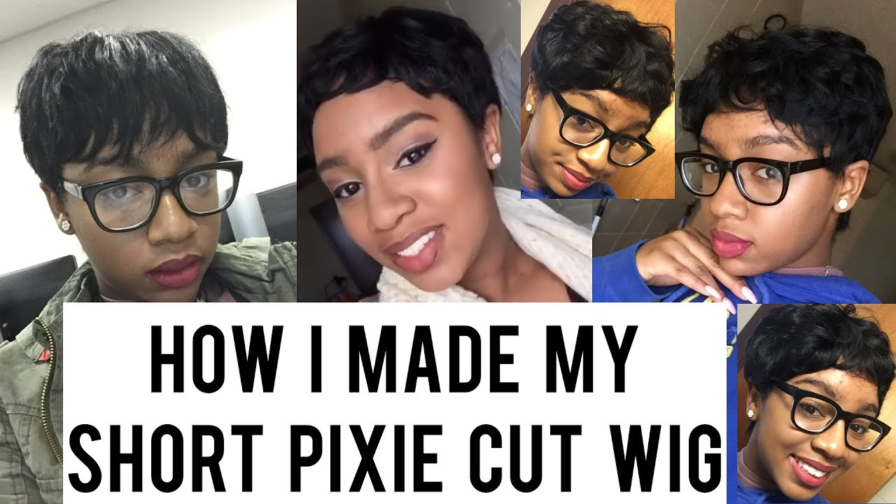 How I Made My Short Pixie Cut Wig Using 27 Piece Hair