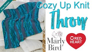 Sweet Home Cozy Up Beginner Knit Throw Blanket