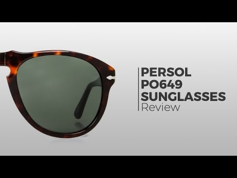 4446339ee7 Persol PO649 sunglasses review - SmartBuyGlasses - YouTube