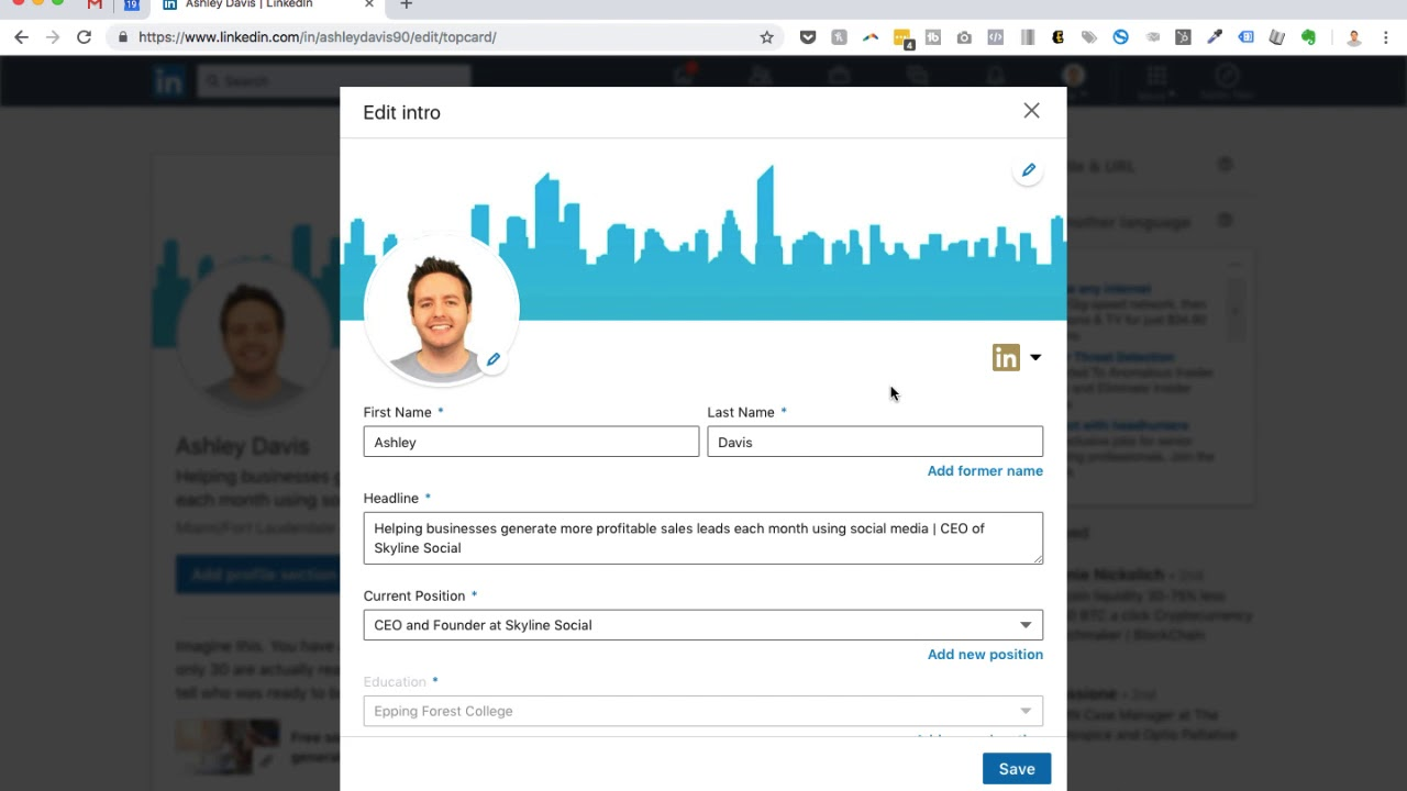 How To Update Your Linkedin Profile Photo And Background Image