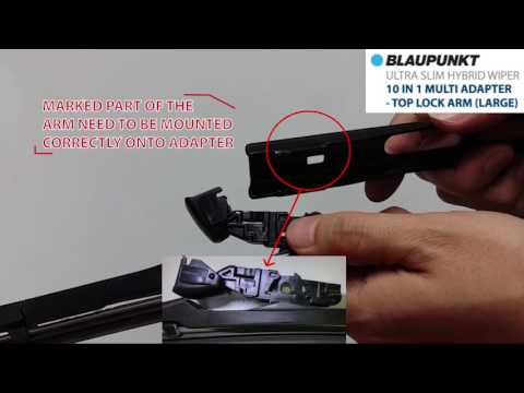 Blaupunkt Slim Hybrid Wiper 10 In 1 Multi Adapter Top lock Arm (Large)