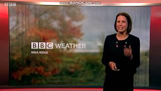 Nina Ridge the weather presenter on South East Today
