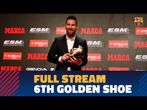 LIVE: Leo Messi recibe su 6ª Bota de Oro