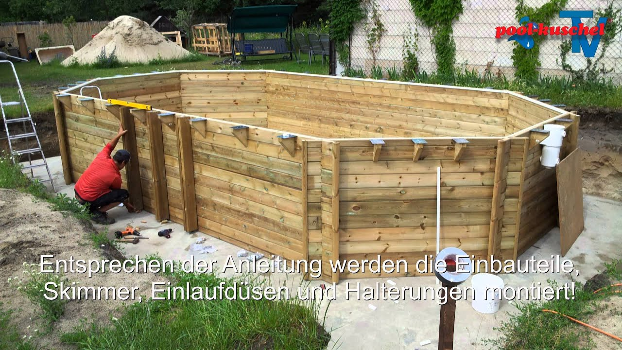 Pool Bauen Video Holzpool Proswell By Procopi Youtube