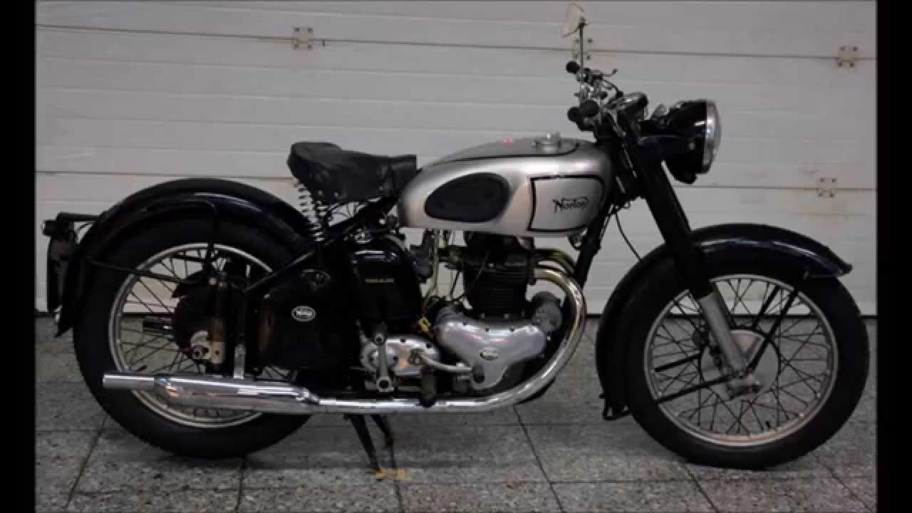 Norton Modèle 7 Dominator BACK//rouge pipe 500cc 1952 Housse De Siège avec Line