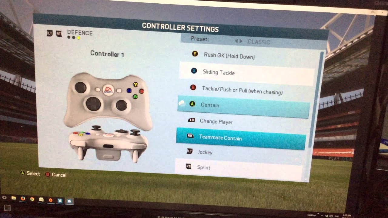 how to change language on fifa 16