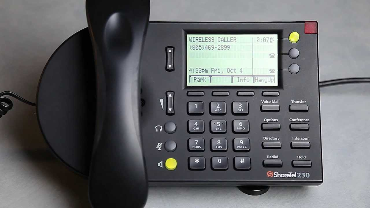 Transferring Calls with a ShoreTel IP Phone - YouTube