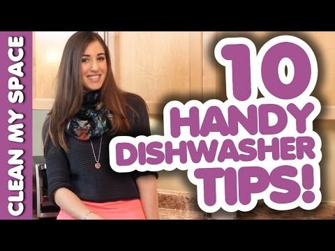 10 AWESOME DISHWASHER TIPS! How to Wash Dishes & Silverware the Fast & Easy Way (Clean My Space)