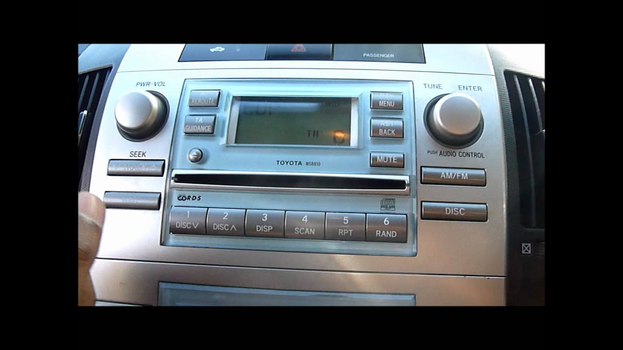 2005 toyota corolla verso cd player stereo youtube. Black Bedroom Furniture Sets. Home Design Ideas