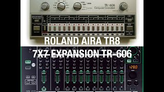 roland tr 606 drum machine tr 8 aira 7x7 expansion pack