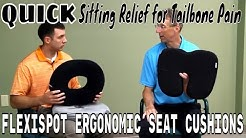 Quick Sitting Relief for Tailbone Pain- Flexispot Ergonomic Seat Cushions