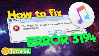 How to fix iTขnes Error 3194 on Windows 10/8/7 (Tutorial | 2021)