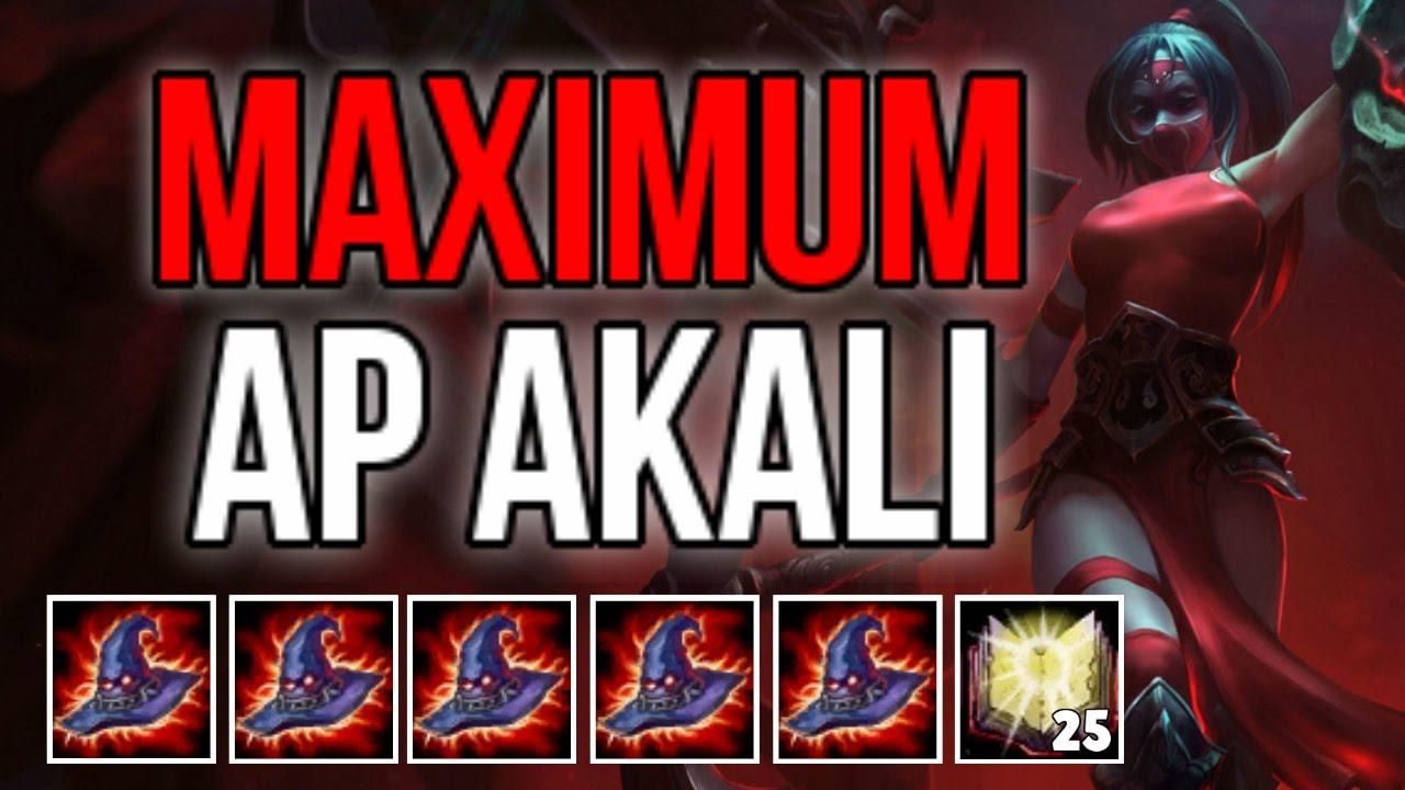 MAXIMUM RABADONS AP AKALI BUILD (AKALI BUILD CHALLENGE)   League of Legends