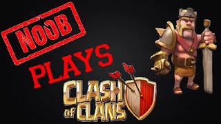 Noob Plays Clash Of Clans Getting TownHall To Level 6