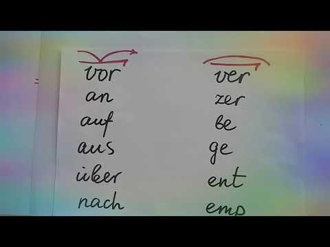 Відокремлювані, невідокремлювані префікси німецької мови.