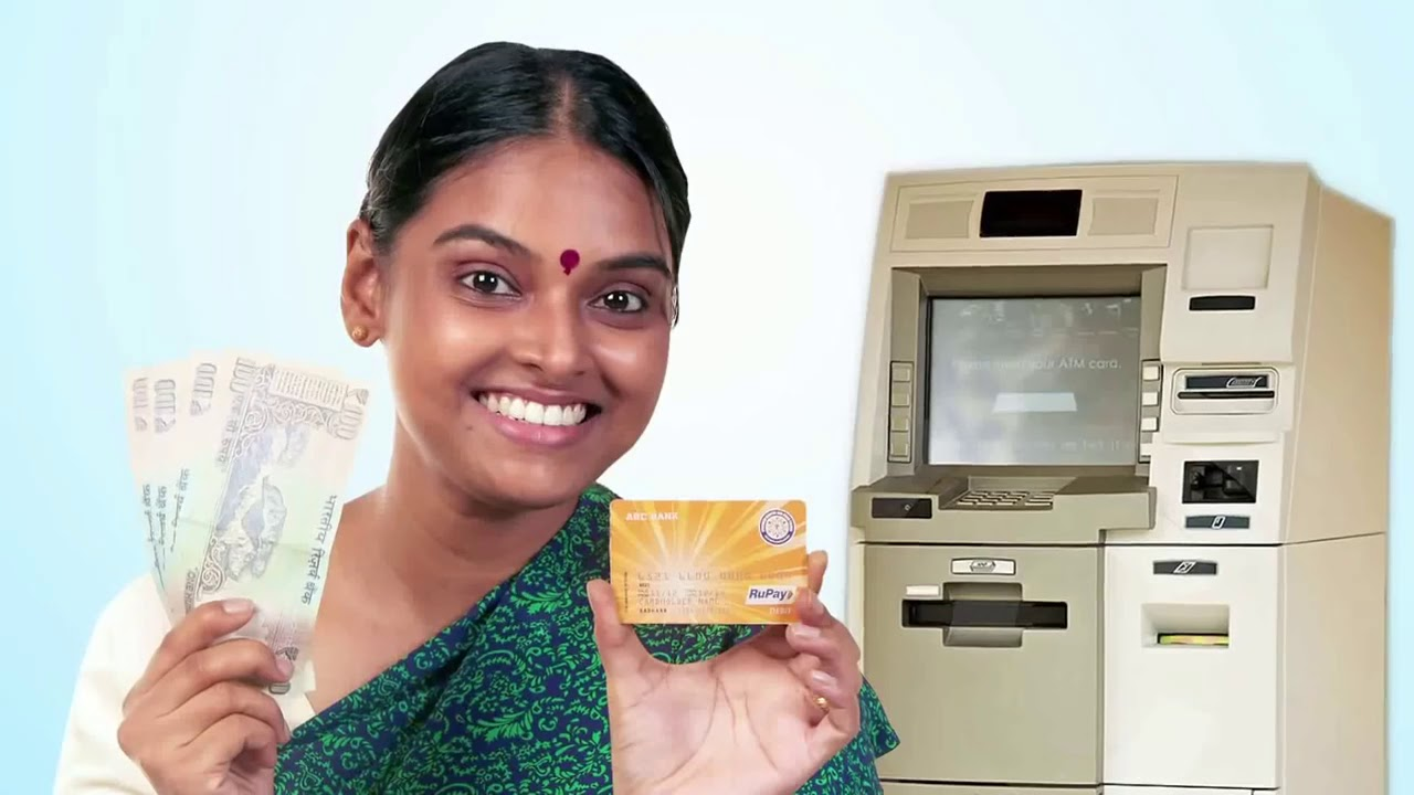 How use RuPay Debit Card for ATM withdrawal & Over Draft Facility Under  PMJDY