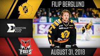 Filip Berglund | One Goal vs HC Bolzano | Aug. 31, 2018