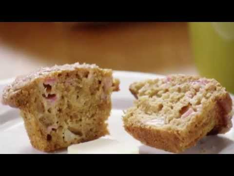 Muffin Recipes - How to Make Rhubarb Muffins
