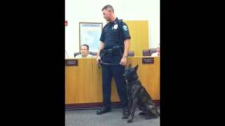 K-9 Officer Shadow swearing in ceremony