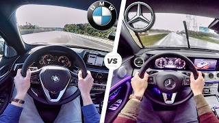 BMW 5 Series 2017 G30 vs Mercedes Benz E Class 2017 POV Test Drive by AutoTopNL