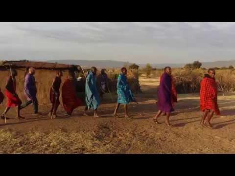 Masai traditional dance in Masai Mara Kenya 2016.