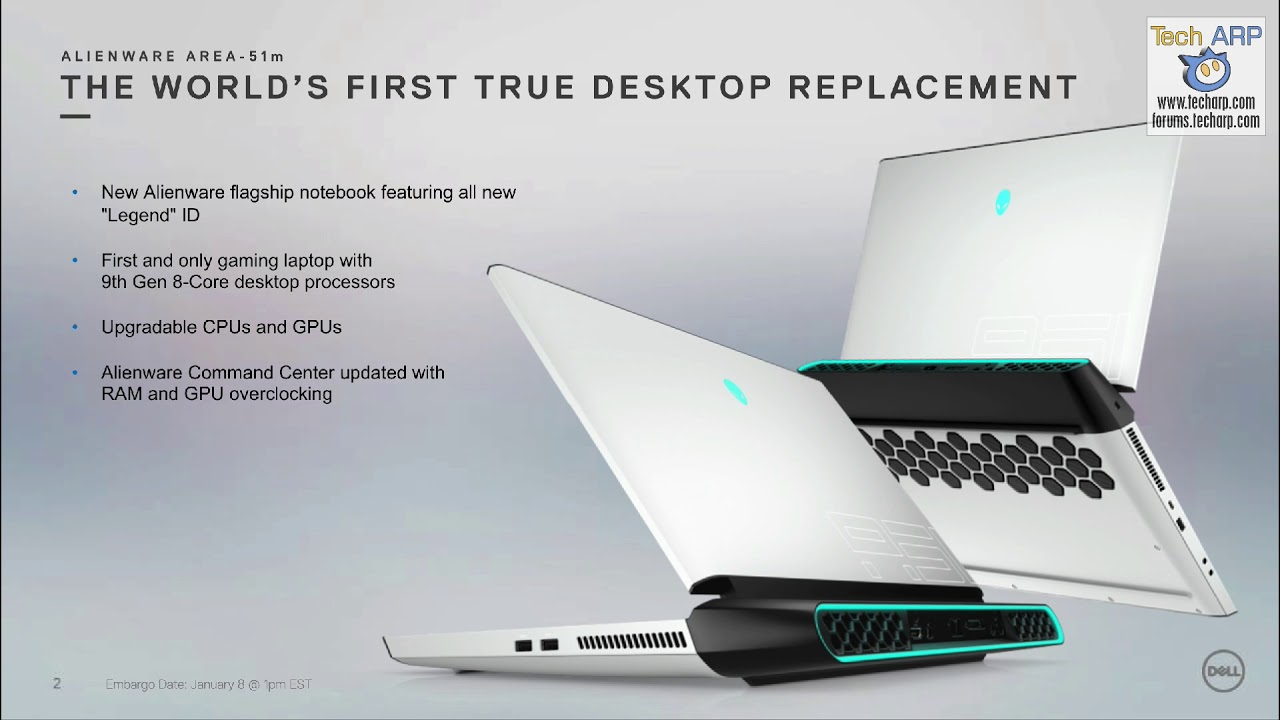 Alienware Shows Off 2019 Area-51m with Legend Design! - Tech ARP