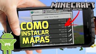 COMO INSTALAR MAPAS NO MINECRAFT PE + MAPA DE TEXTURAS