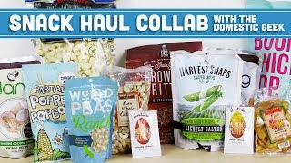 Healthy Snack Haul! Favorite Snacks Collab with The Domestic Geek - Mind Over Munch