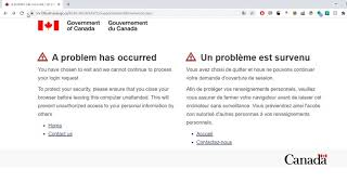 How To Fix The Login Error On Service Canada S Website Youtube