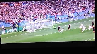 Gol na 1:0 dla Anglii - Anglia Chorwacja  Półfinał mistrzostw świata