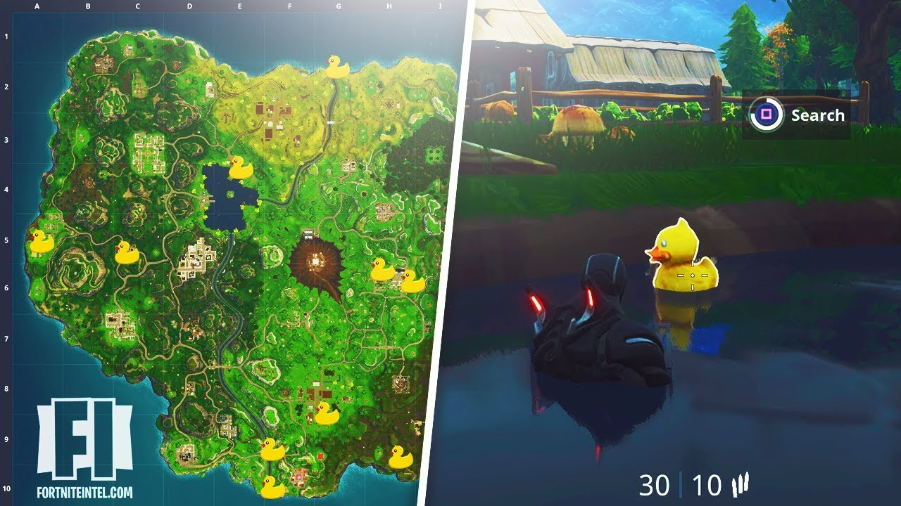 All Fortnite Quot Search Rubber Duckies Quot Locations Season