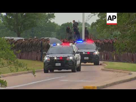 Bush Procession Arrives at Final Resting Place