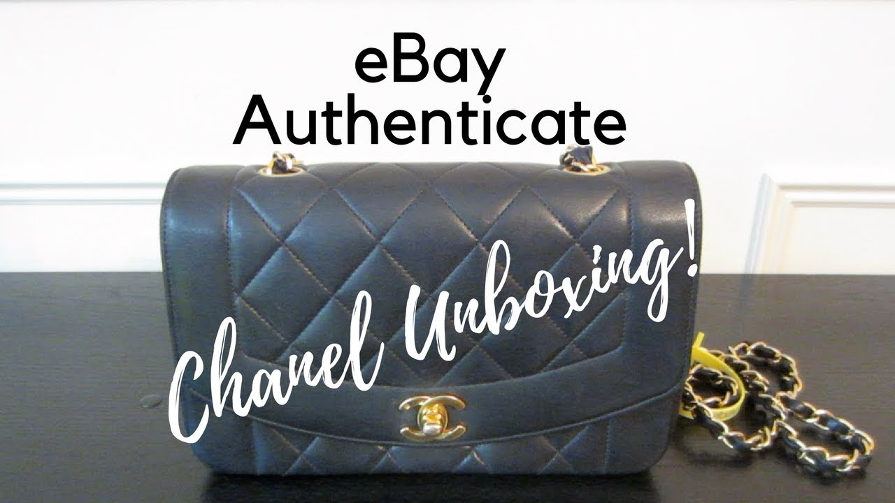5467a320f PART I eBay Authenticate & Leather Surgeons | Luxury Unboxing | Chanel  Vintage Navy Diana Flap Bag