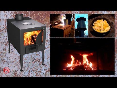 Как сделать печь буржуйку. Часть 2. Труба, конфорка и экран.