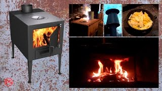 """Как сделать печь """"буржуйку"""". Часть 2. Труба, конфорка и экран."""