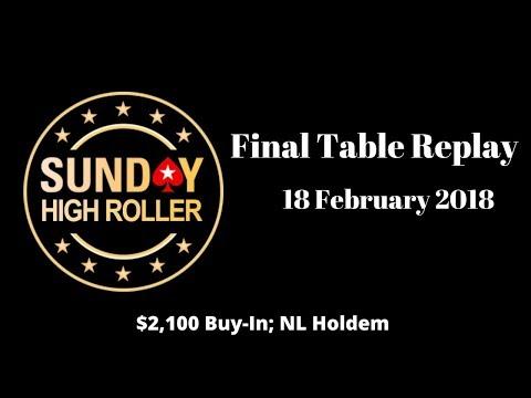 $2,100 Sunday High Roller 18 February 2018 with Justin Bonomo