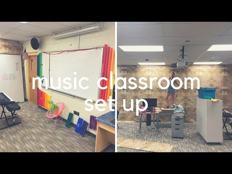 MUSIC CLASSROOM SET UP // day two