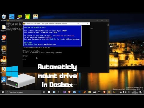 How To Automatically Mount C Drive In DosBox