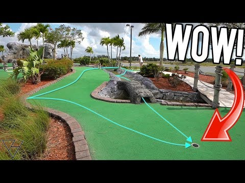Lucky Mini Golf Hole In One Bounces and More at this Awesome Mini Golf Course!