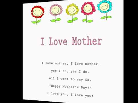I Love Mother/ Kids Mother's Day Rhymes and Songs/Children's Poems/Learning  to Read